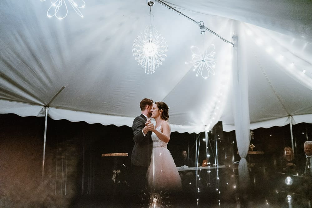 Couple's first dance at their reception