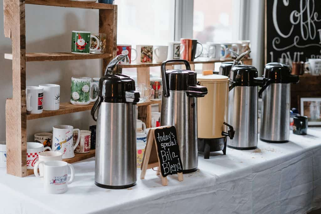 homemade coffee for a wedding reception to cut back on wedding expenses
