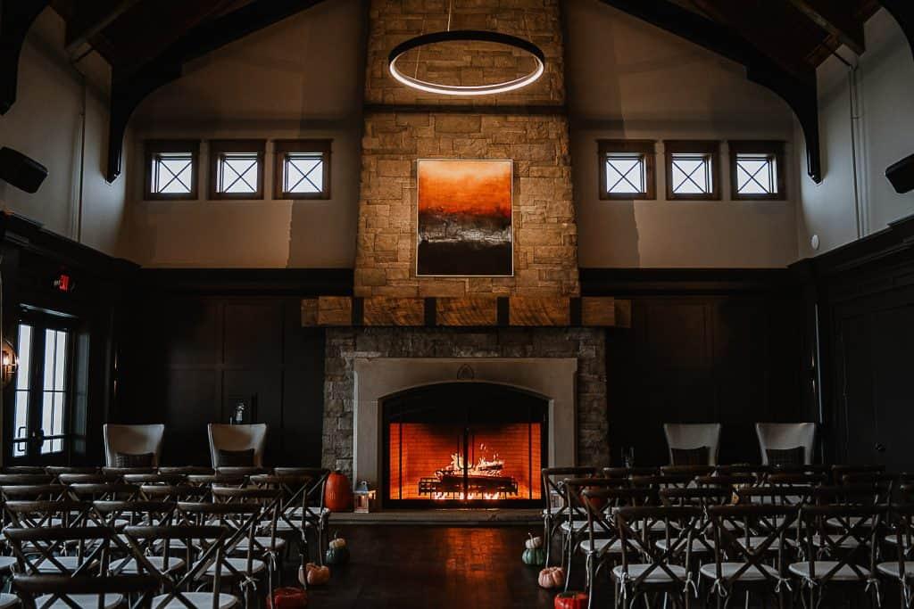 Grand wedding reception hall for the Blue Ridge Mountain Club